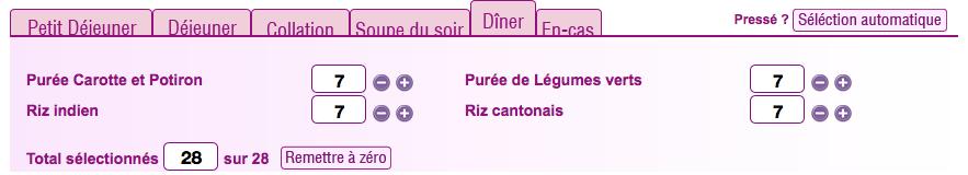 Diner regimebox
