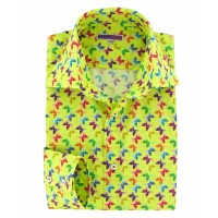 chemise homme fantaisie anis