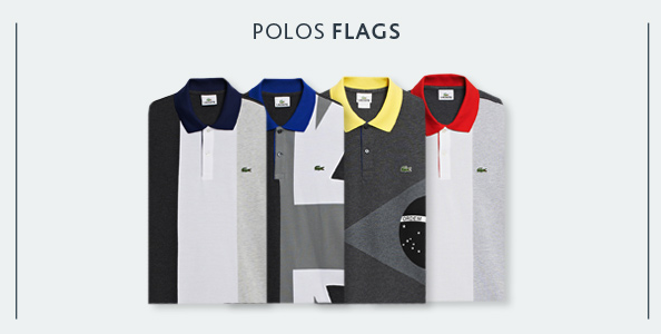 Nouvelle collection Polos Flags Lacoste